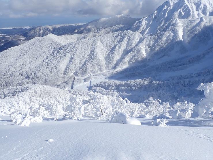 冬の夏山登山道