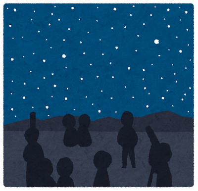 夜空を見上げてみる